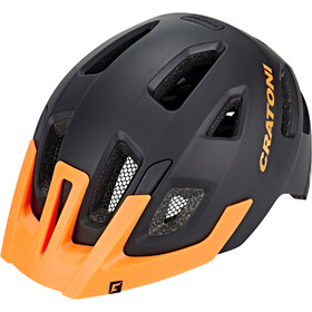 Cratoni Maxster Pro Casco Bambino, black-orange matt